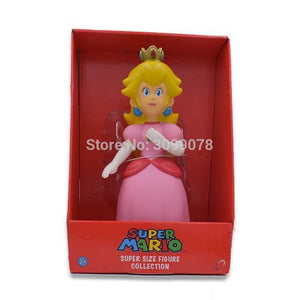 Super Mario Bros Character Miniature Models Super Mario Bros Merch Out Of The Box Nerd 23cm Peach in box