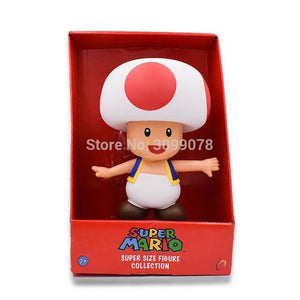 Super Mario Bros Character Miniature Models Super Mario Bros Merch Out Of The Box Nerd 23cm Toad in box