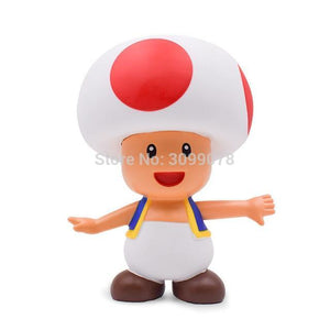 Super Mario Bros Character Miniature Models Super Mario Bros Merch Out Of The Box Nerd 23cm Toad no box