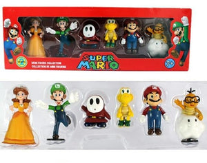 Super Mario Bros Character Miniature Models Super Mario Bros Merch Out Of The Box Nerd Daisy 6Pcs in box