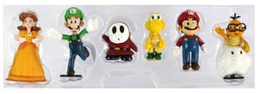 Super Mario Bros Character Miniature Models Super Mario Bros Merch Out Of The Box Nerd Daisy 6Pcs no box