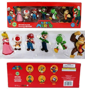 Super Mario Bros Character Miniature Models Super Mario Bros Merch Out Of The Box Nerd peach 6pcs in box