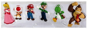 Super Mario Bros Character Miniature Models Super Mario Bros Merch Out Of The Box Nerd peach 6pcs no box
