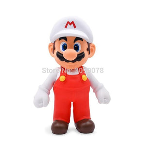 Super Mario Bros Character Miniature Models Super Mario Bros Merch Out Of The Box Nerd Whitehat Mario nobox