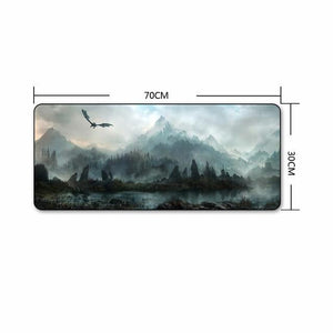 The Elder Scrolls Skyrim Extra Large Gaming Mouse Pad The Elder Scrolls Merch Out Of The Box Nerd B