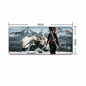 The Elder Scrolls Skyrim Extra Large Gaming Mouse Pad The Elder Scrolls Merch Out Of The Box Nerd C