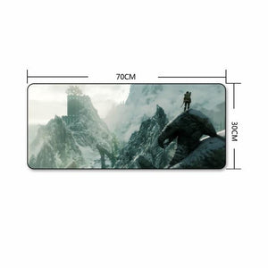 The Elder Scrolls Skyrim Extra Large Gaming Mouse Pad The Elder Scrolls Merch Out Of The Box Nerd D