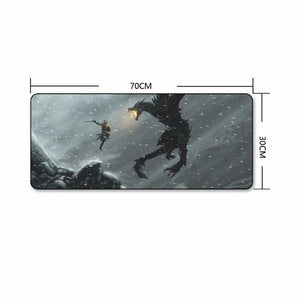 The Elder Scrolls Skyrim Extra Large Gaming Mouse Pad The Elder Scrolls Merch Out Of The Box Nerd E