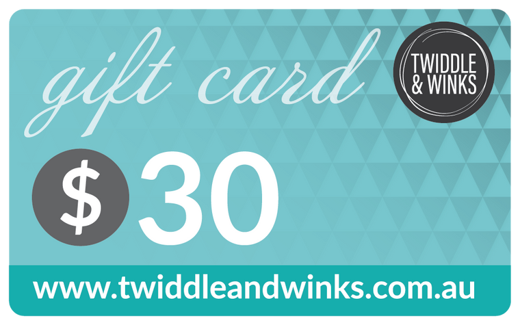 Twiddle & Winks Gift Card - $ 30