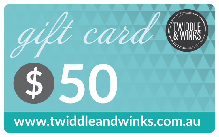 Twiddle & Winks Gift Card - $ 50