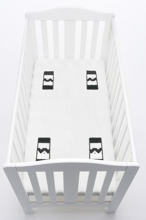 baby fitted cot sheet Monochrome
