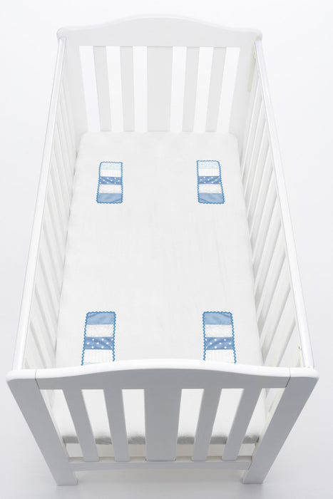baby cot bedding blue