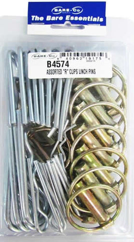 Bareco B-4574 Linch Pin-R Clip Assortment Retail Pack