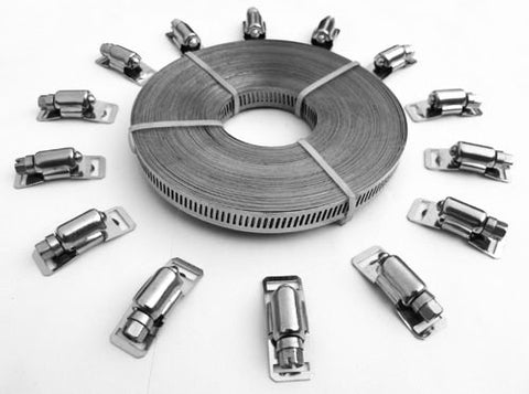 2000-3000-4000 Series All Stainless W4 and Part  Stainless W2 Endless Clamp Kits