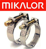 8500-2 Series Mikalor Heavy Duty Large Diameter Super Clamps W2 Stainless Steel.