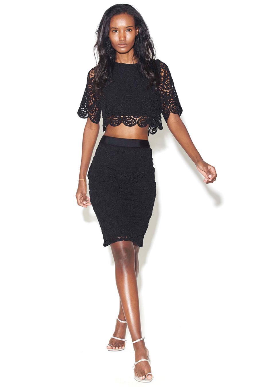 Scarlett Lace Midi Skirt - SAMPLE