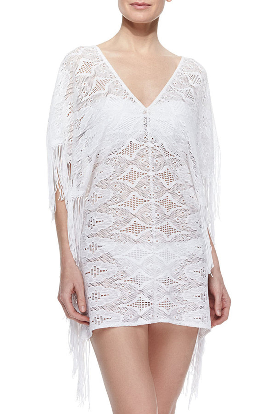 Taylor White Lace Coverup - SAMPLE