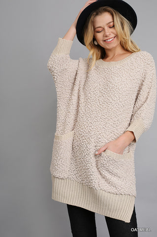 Cozy - Comfy Umgee - SWEATER TUNIC/ 3/4 SLEEVE