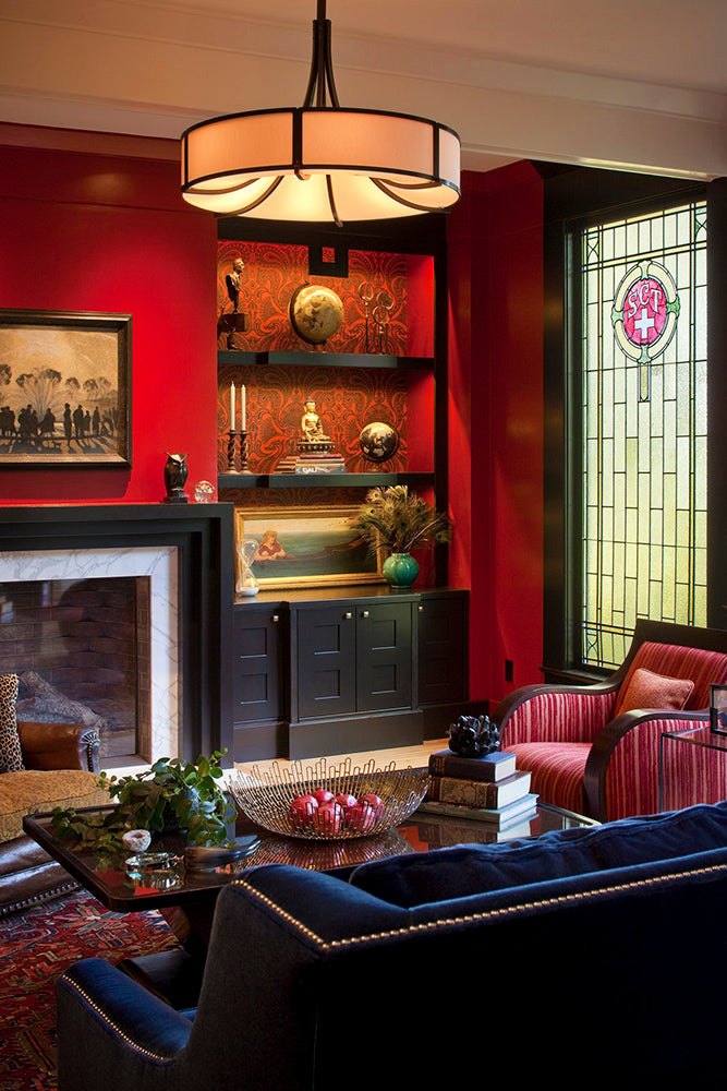 Red Living Room - Suzanne Childress Design