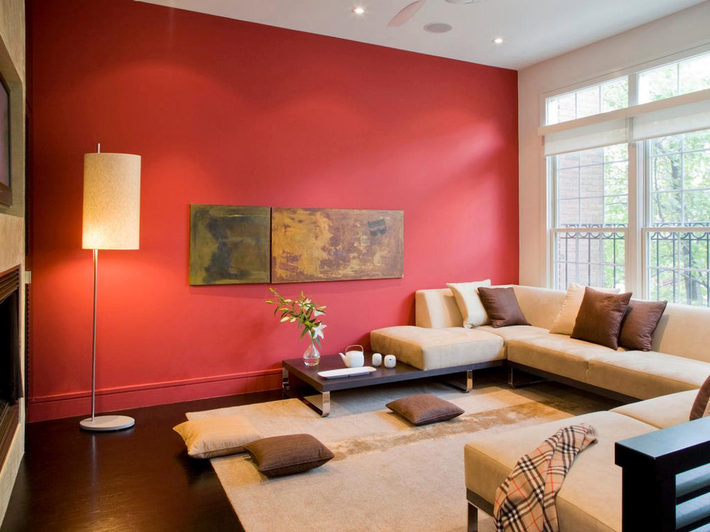 Red Living Room - Forma Design