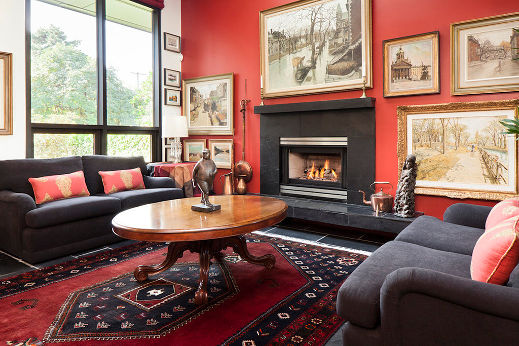 Red Living Room - White Hart Homes