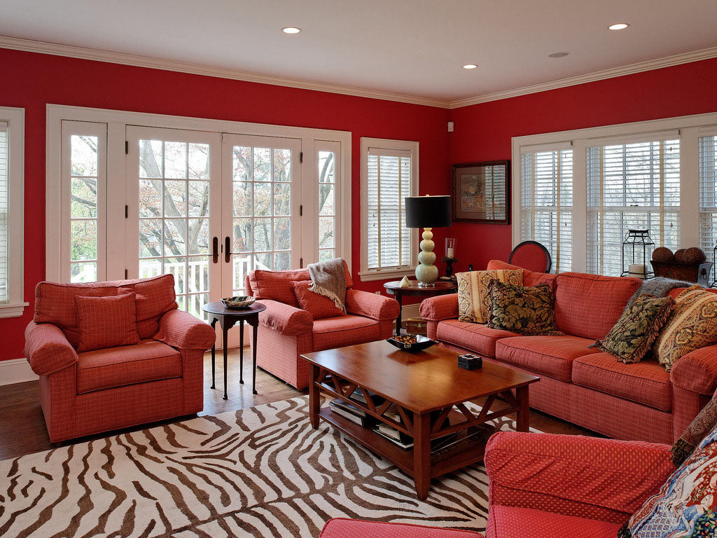 Red Living Room - Therese Valvano