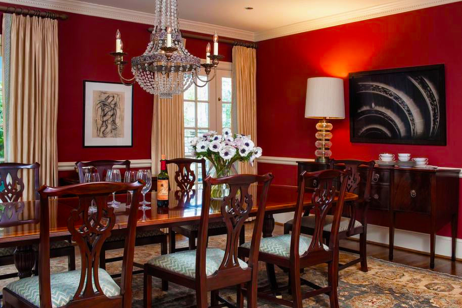 Red Dining Room - M.S. Vicas Interiors