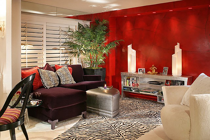 Red Living Room - Karla Trincanello
