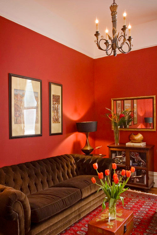 Red Living Room - Bashford Design