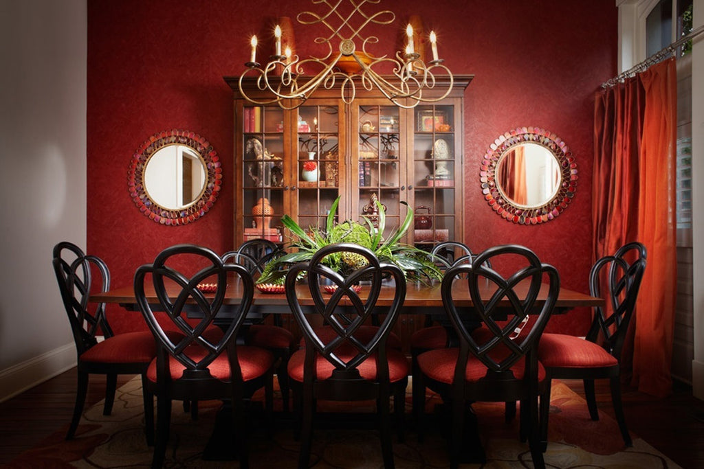 Red Dining Room - Kenn Gray Home
