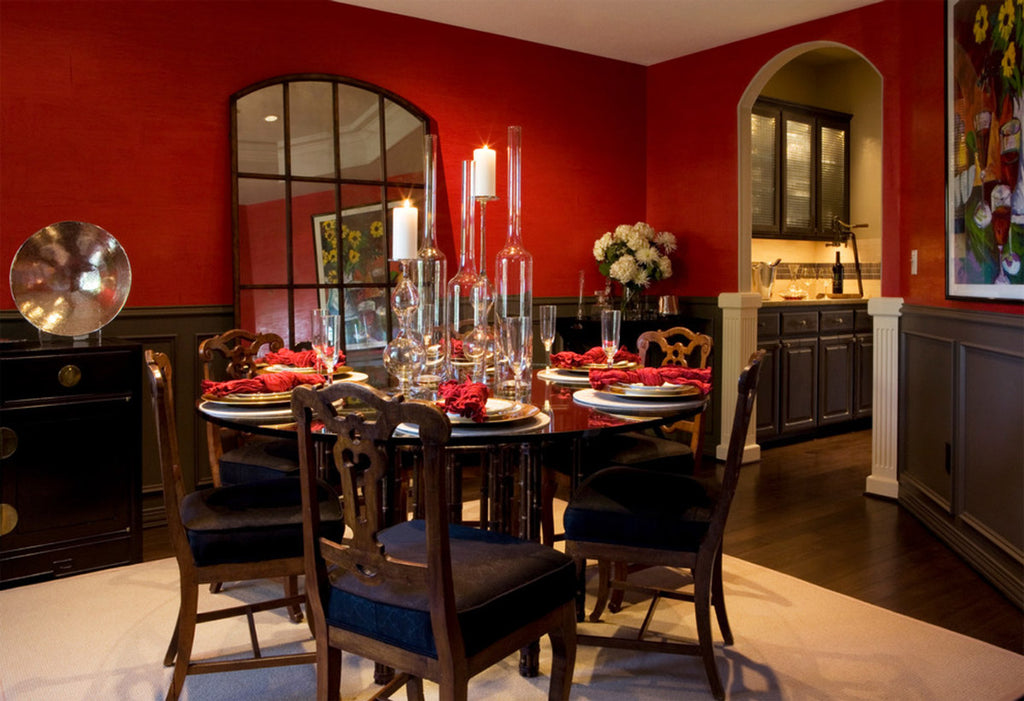 Red Dining Room - Jennifer Myers & Associates
