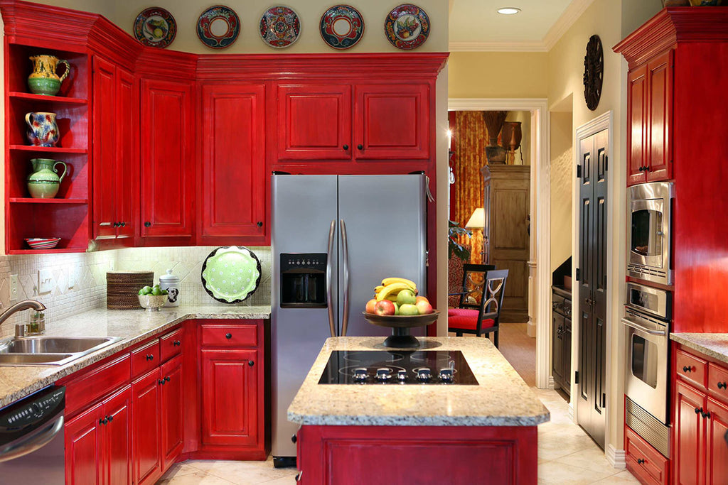 Red Kitchen - Cheryl Ketner Interiors