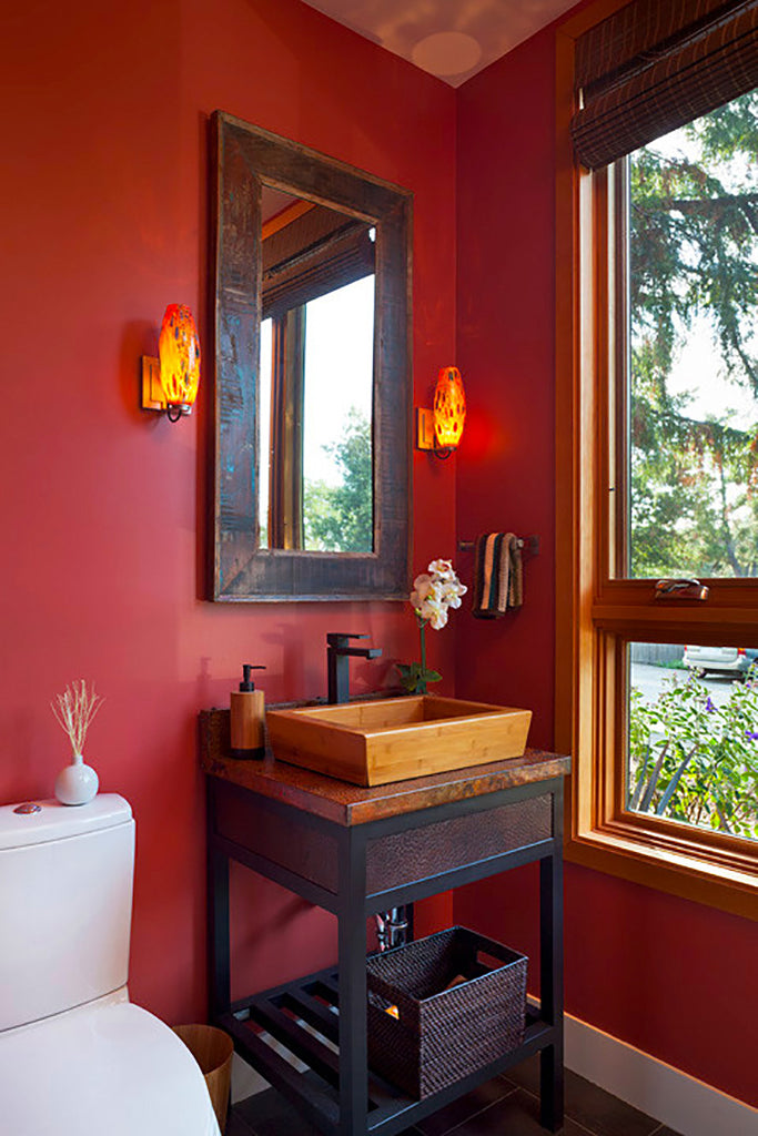 Red Bathroom - Moderna Homes