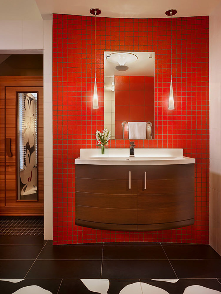 Red Bathroom - Larisa McShane