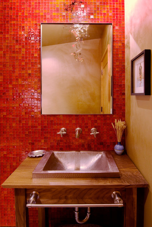 Red Bathroom - Ward-Young Architecture & Planning
