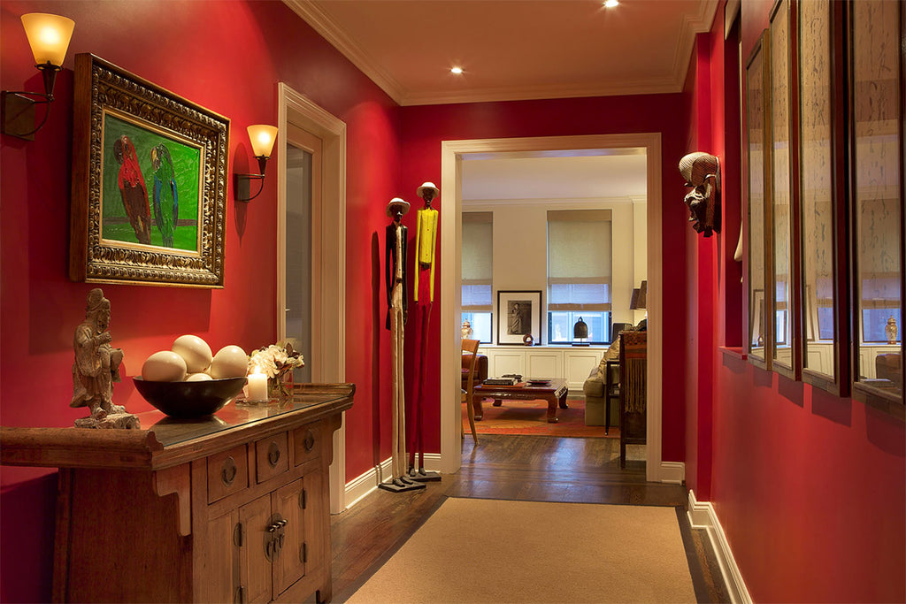 Red Foyer - Manhattan Renovations