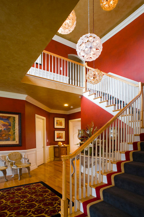 Red Foyer - Henrietta Hesler Interiors