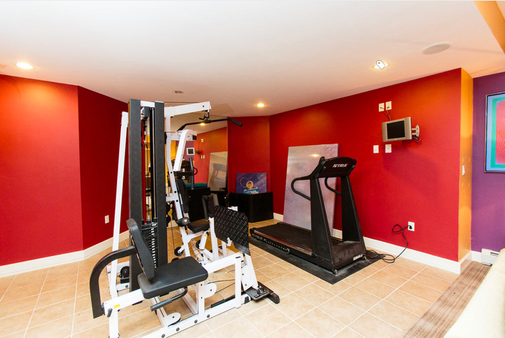 Red Home Gym - Amy Mizner