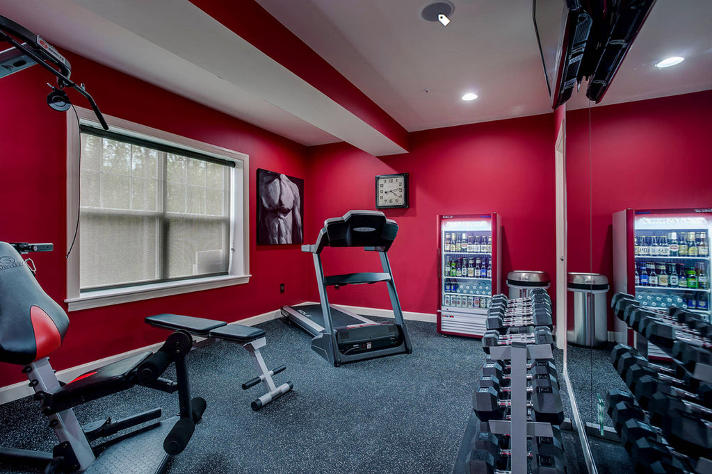 Red Home Gym - Nouveau Home & Interior Design