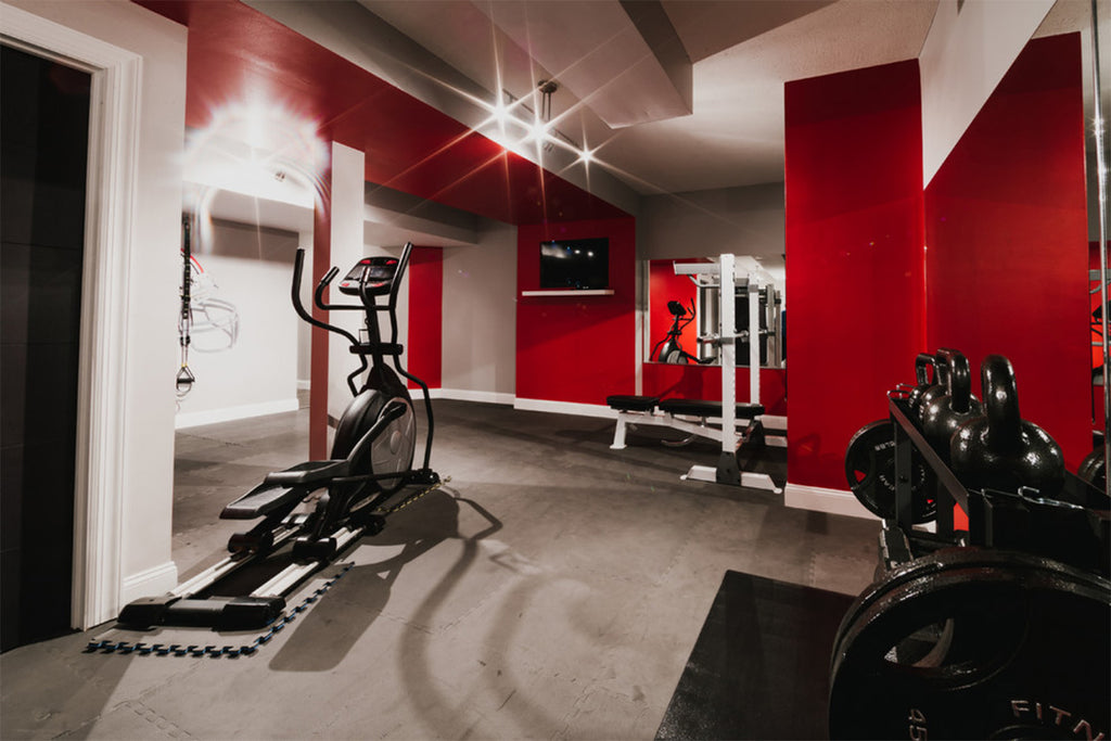 Red Home Gym - Prestige Renovations