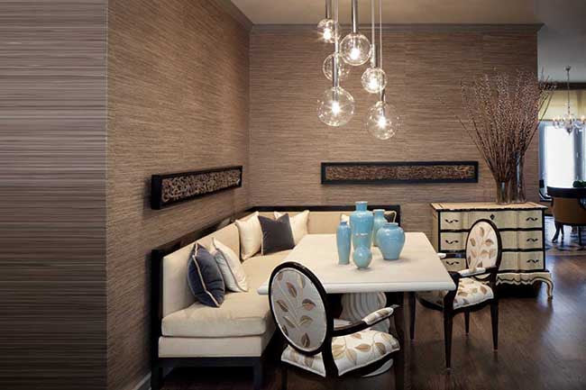 Medium brown walls lounge interior