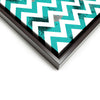 Wall art and Canvas artwork, Aqua & White Chevron, Dirty