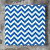 Wall art and Canvas artwork, Blue & White Chevron, Clean