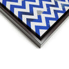 Wall art and Canvas artwork, Blue & White Chevron, Dirty