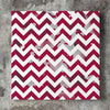 Wall art and Canvas artwork, Burgundy & White Chevron, Dirty
