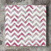 Wall art and Canvas artwork, Burgundy & White Chevron, Smog