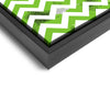 Wall art and Canvas artwork, Green & White Chevron, Dirty