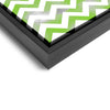 Wall art and Canvas artwork, Green & White Chevron, Smog