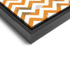 Wall art and Canvas artwork, Orange & White Chevron, Dirty