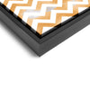 Wall art and Canvas artwork, Orange & White Chevron, Smog